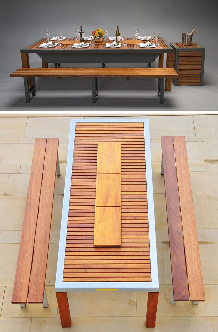 IBBQ Offers Different Types Of Patent Pending Designs For Modern Outdoor Bbq Dining Table With Built In 3 Gas Grills