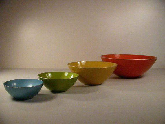 Emalox Anodized Aluminium set of 4 Bowls Norway Emalox by OBJECTIK