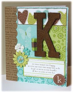 scrapbooking cover of notebook - Google Search