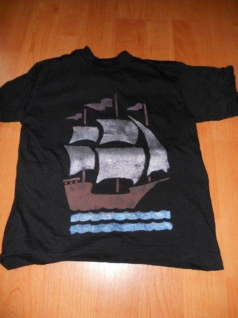 tiskání barvami na textil, pomocí šablon