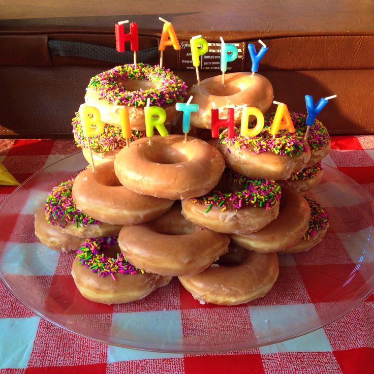 Krispy Kreme birthday cake! Birthday!!! Pinterest