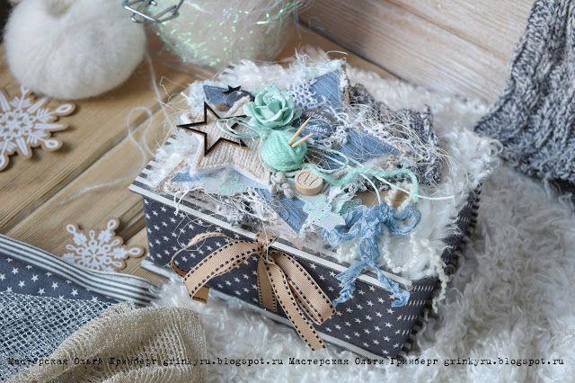 Мастерская Ольги Гринберг: FotoBox или новогодняя подарочная коробка с секретом