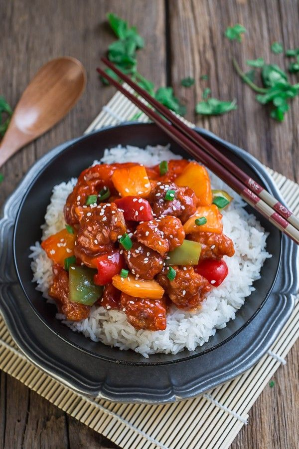 The best authentic homemade Sweet and Sour Chicken with Pineapples is perfect for weeknights. Way better & easier than take-out all made in the slow cooker