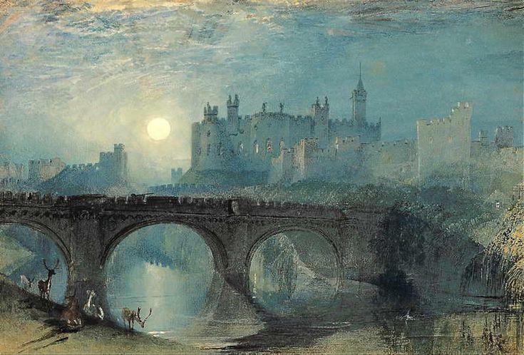 Castillo de Alnwick - Joseph Mallord William Turner-  Romanticismo inglés  -  S. XIX