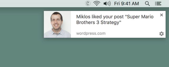 nice Browser Notifications on WordPress.com