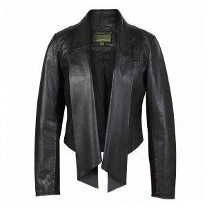 Ladies-Leather-Waterfall-Jacket-Black-Lily