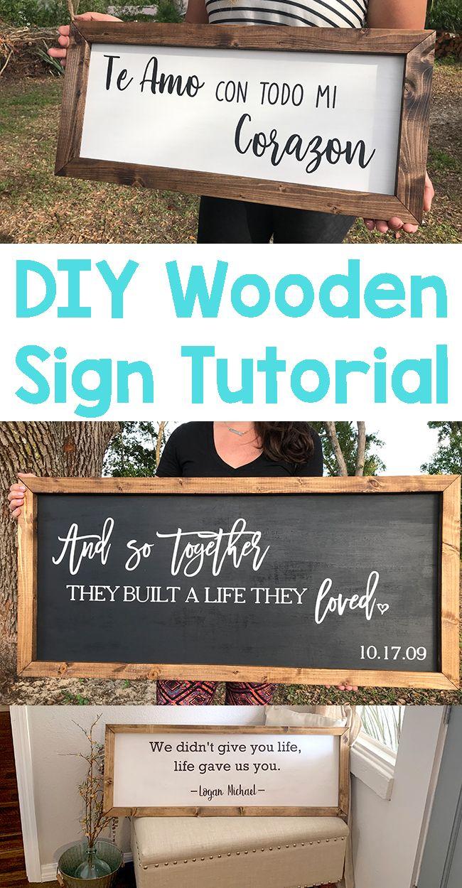DIY Framed Wooden Sign Tutorial