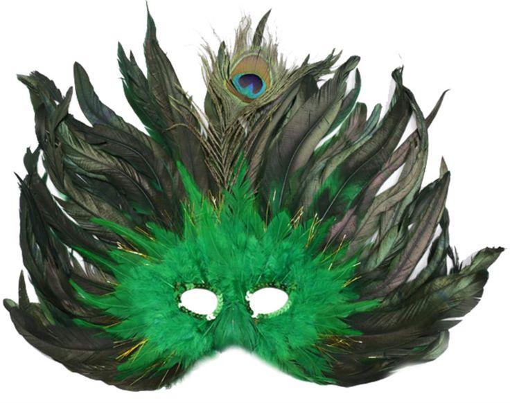Goedkope Mooie dame zwart kant bloemen oogmasker halloween unieke pauwenveer half gezicht maskers #034, koop Kwaliteit Feestelijke& feestartikelen rechtstreeks van Leveranciers van China:  Kleur: groeneMateriaal: veerDimensie: 48*37cm/18.8*14.5in( veer geteld)Pakket omvat: 1 x maskerade maskerNoot:- e