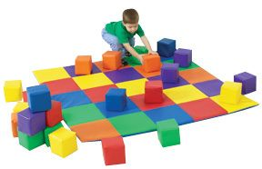 """Activity/Crawly Mats, Our Activity/Crawly Mats are different sizes and shapes. Made of 1"""""""" thick virgin foam, these vinyl covered nylon mats easily wipe clean and are multi-purpose mats for all ages."""