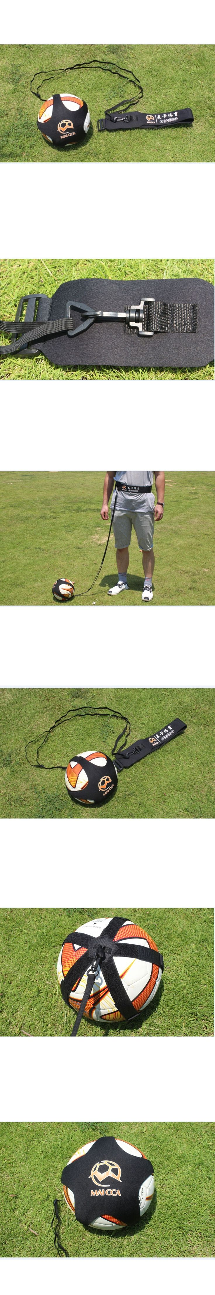 MAICCA Professional Football Training band belt rope net  Shoot Assistance Elastic Soccer Training Rope Equipment Wholesale