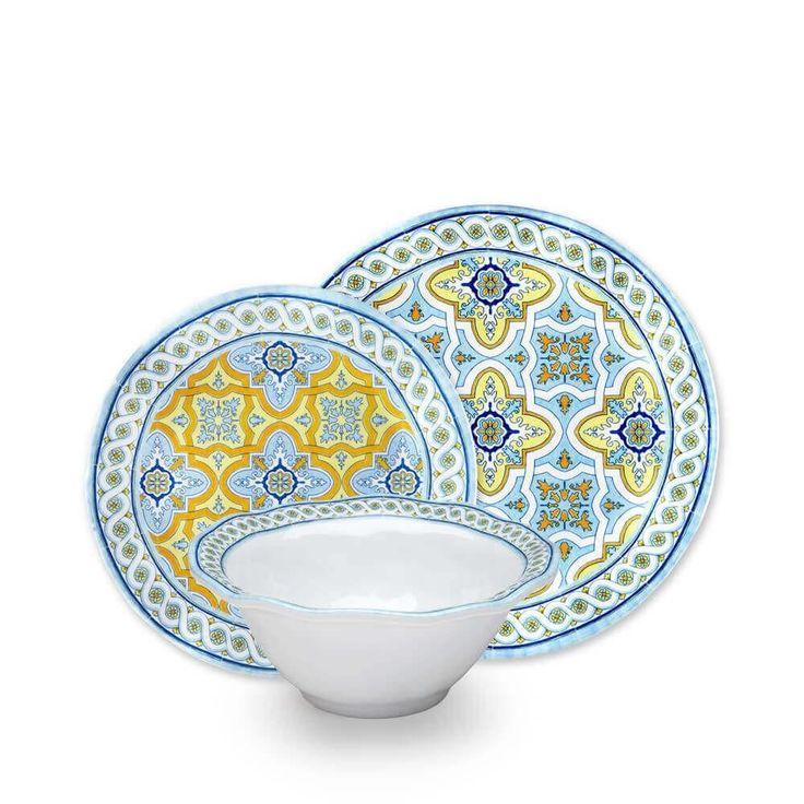 Fontainebleau 12pc Melamine Dinnerware Set