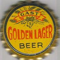 Gast Golden Lager Beer, bottle cap | Gast Brewery, Inc., St. Louis, Missouri USA | cap used 1936-1940