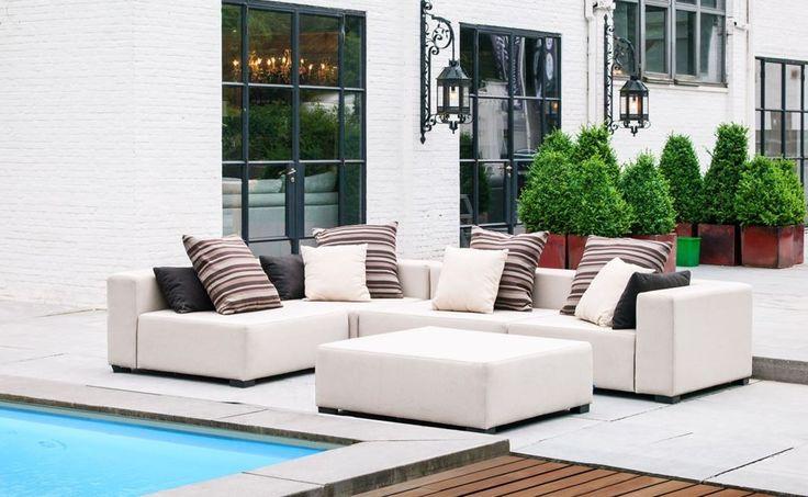 Lounge Sofa Garten Cubick Bezug Ice