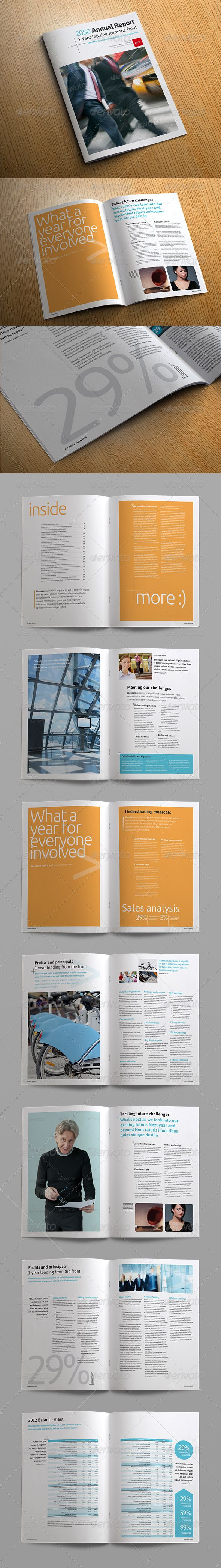 Best Annual Report Templates Images On   Brochure