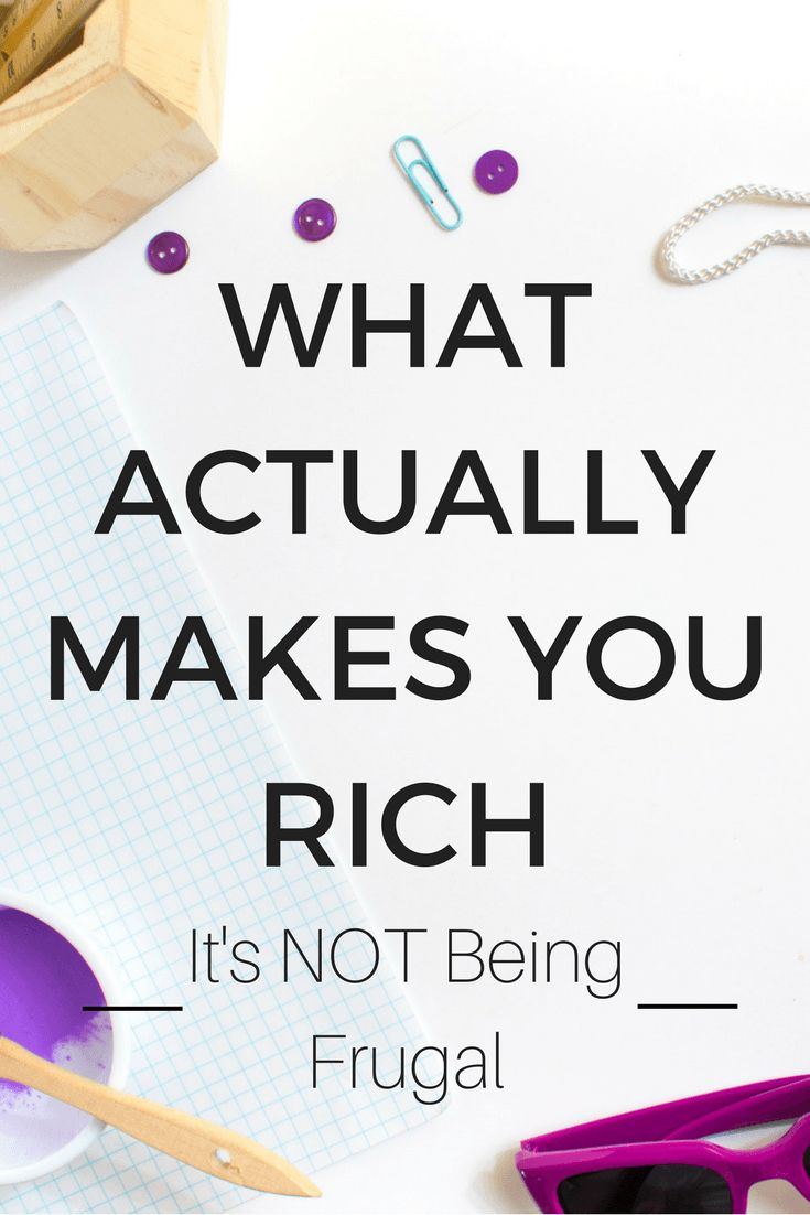 Think doing all those money-saving frugal tips will save you thousands? Think again ... There's only a couple things that will really help you to become rich. how to be rich | financial planner | budget printables