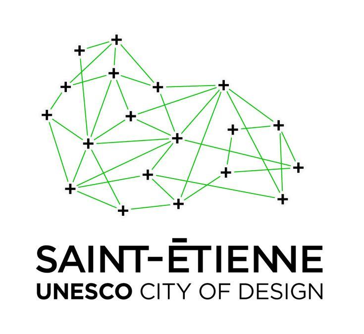 City of Design Logo Branding Black / green http://www.grapheine.com/divers/brand-design-st-etienne-city-of-design-unesco