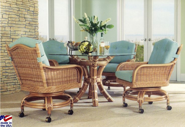 1000 Images About Indoor Wicker And Rattan Dining Sets On Pinterest