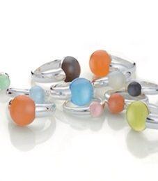 Zilveren ringen Caboo #quinn #scheurle #quinnscheurle #zilver #gems #citrien #maansteen #calcedon #topaas #amethist