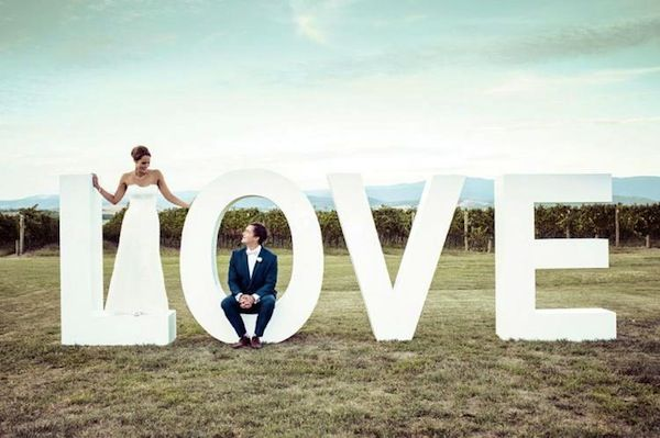 Giant letters wedding backdrop   Top 10 Wedding Backdrops for Photo Booths, Dessert Tables and Ceremonies