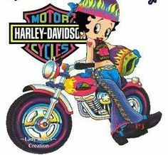197 Betty Boop Images Pinterest Biker Animated Harley Davidson Screensavers