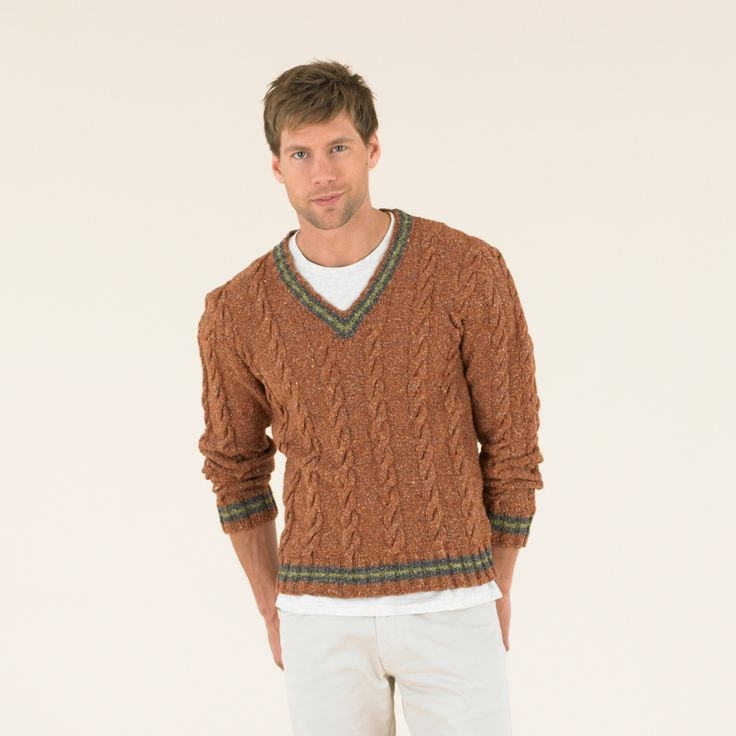 Wear colour this Spring - Jefferson from the Sublime Luxurious Tweed Double knitting book.