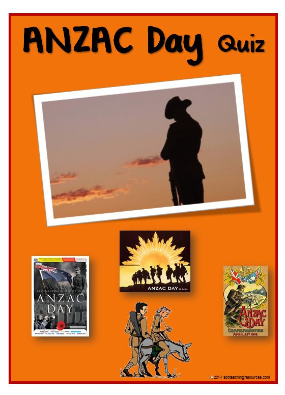 ANZAC Day | Quiz | Cards: Fifteen question and answer cards about the Gallopili campaign. The Q & A outline the facts and symbols of ANZAC Day. A quiz sheet is also included in the resource. www.abcteachingresources