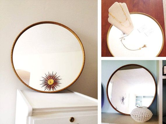 114 best images about for sale on etsy on pinterest vase for Large round gold mirror