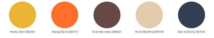 Color palette for Honey Glow (DE5354)
