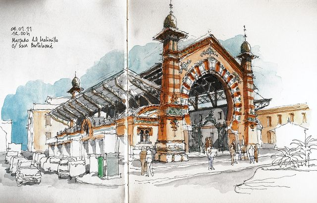 málaga, mercado del molinillo by luis ruiz, via flickr