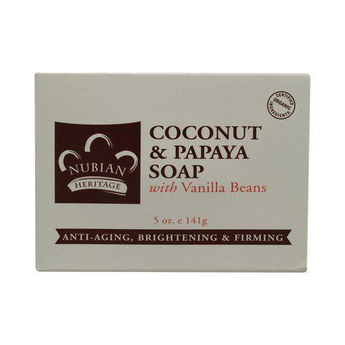 Nubian Heritage Coconut & Papaya Soap, with Vanilla  Beans    Skin Deep® Cosmetics Database   EWG Score of 1