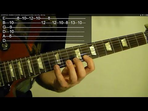 EASY LED ZEPPELIN Solo For Beginners; TANGERINE ( With Tabs ) - YouTube