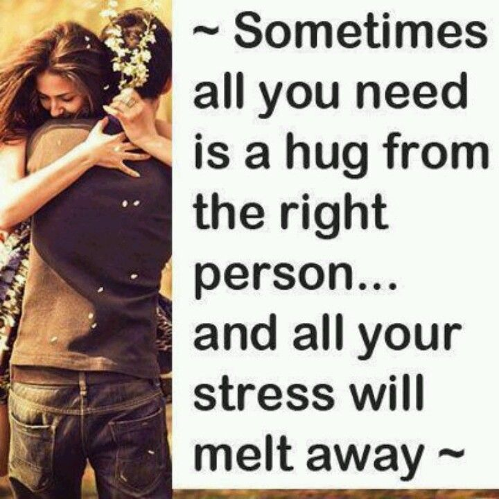 Hold me ..and never let go baby. There is nothing more calming and safe than ...