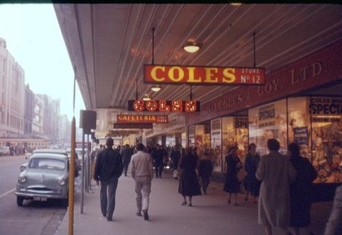 Bourke Street Mall Melbourne late 60's