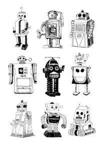 El Famoso Print - Robots