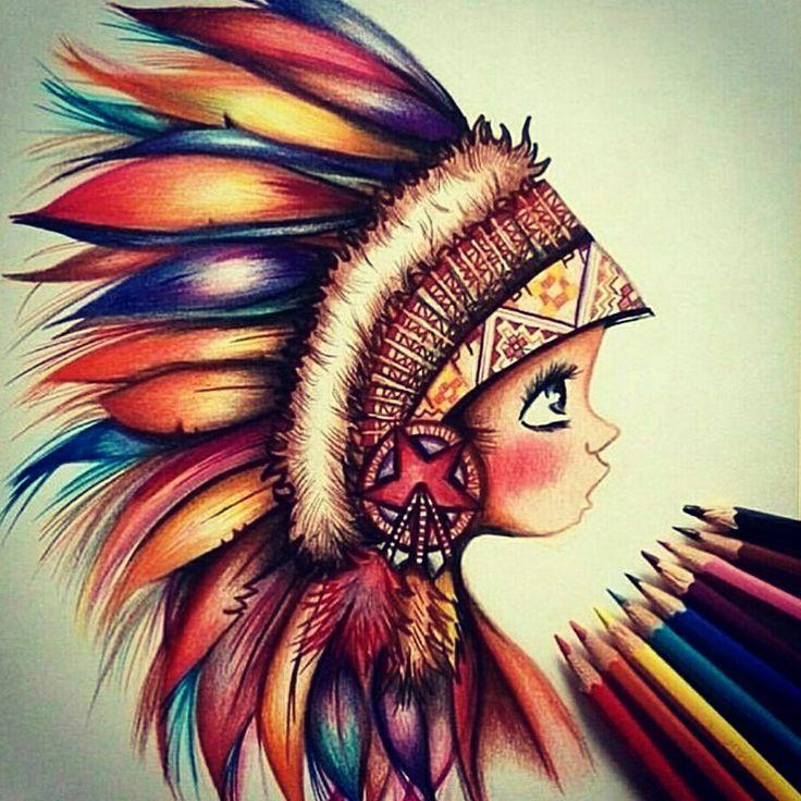 Картинки, прикольные простые рисунки цветными карандашами