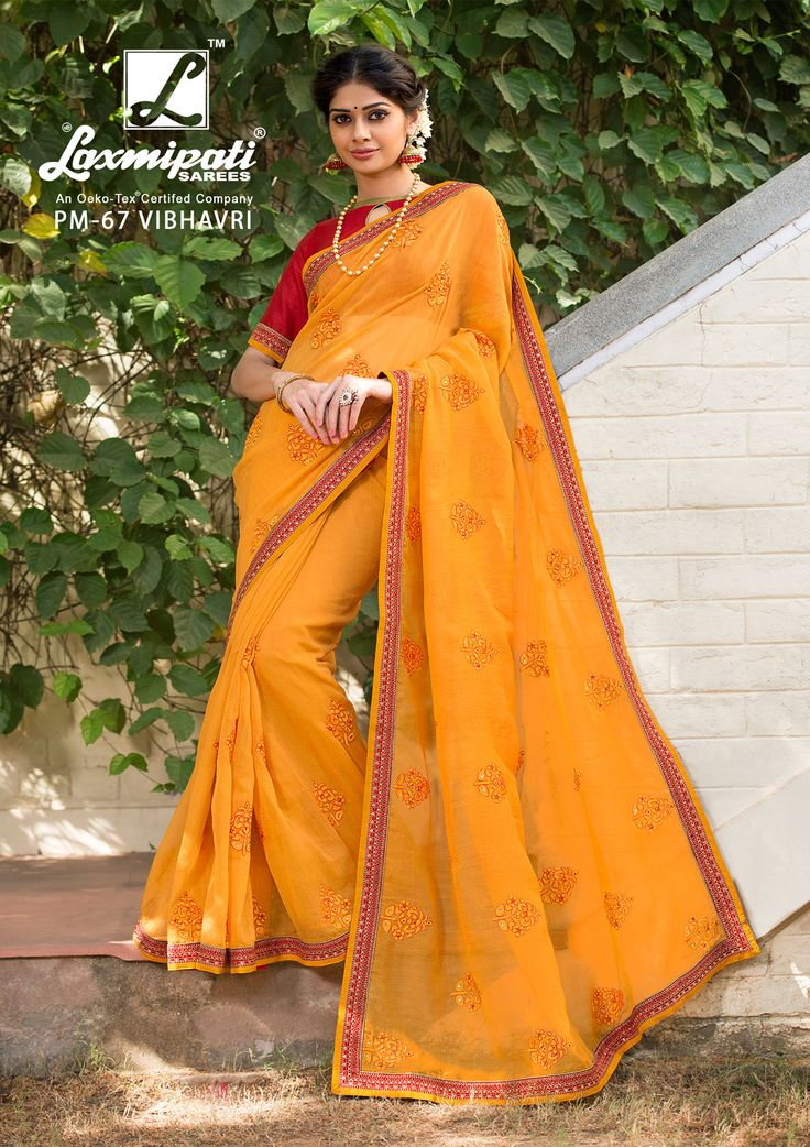 Impress all with your amazing traditional look by draping this Laxmipati Orange #Cotton #SuperNetEmbroidery_Saree and Red #Bhagalpuri_Blouse that earn you loads of plaudits from onlookers. Includes matching blouse fabric. #Catalogue- #SABRANG #DesignNumber- SABRANG 67 #Price - ₹ 3158.00