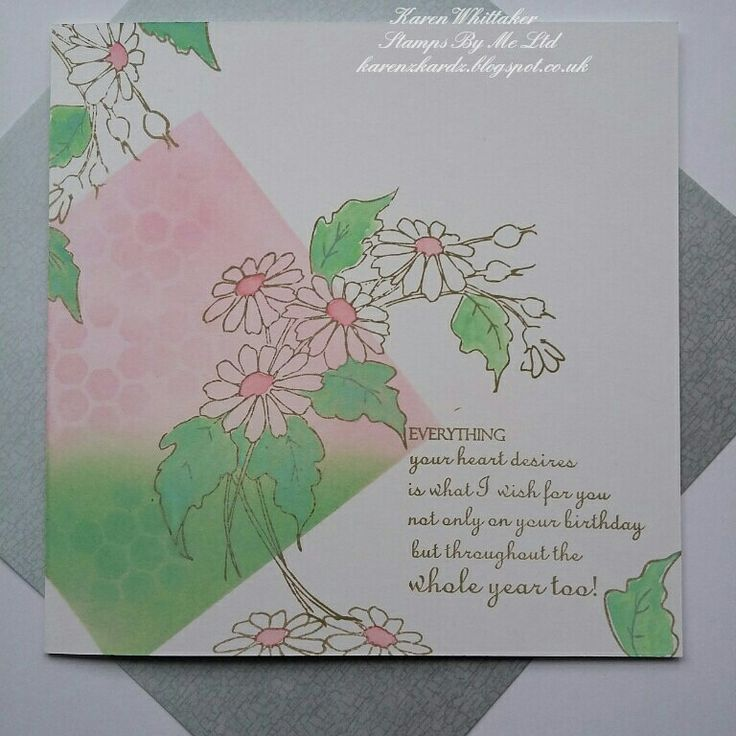Stamps from Stamps By Me. Valued Friend stamp set. #stampsbyme #dtsample #valuedfriend #flowers #stamps #stamping #distressinks #cards #cardmaking #craft #creative #ilovetocraft #creativity #karenzkardz