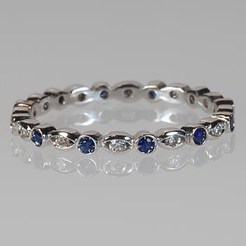 Sapphire Thin Eternity Band--afraid I'm gonna go crazy with extra stacking bands for the rest of my life...