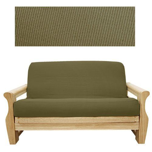 Elegant Ribbed Coco Futon Cover Ottoman 632 by SlipcoverShop. $39.00. See Sizing and Product Description below. In Stock - Ships within 2 days. Made to fit Ottoman size futon cushion measuring 21 inches wide, 28 inches long and up to 8 inches thick. Futon cover features 3 sided, concealed zipper construction. Made in USA. Elegant Ribbed Coco fabric is simply beautiful. Made of tightly woven fabric. Ribbed construction offers extreme durability. Elegant slipcover with a slightly g...