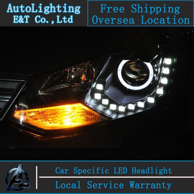 Car styling LED Head Lamp for VW Polo GTI led headlights 2011-2014 cross angel eye led drl H7 hid Bi-Xenon Lens low beam
