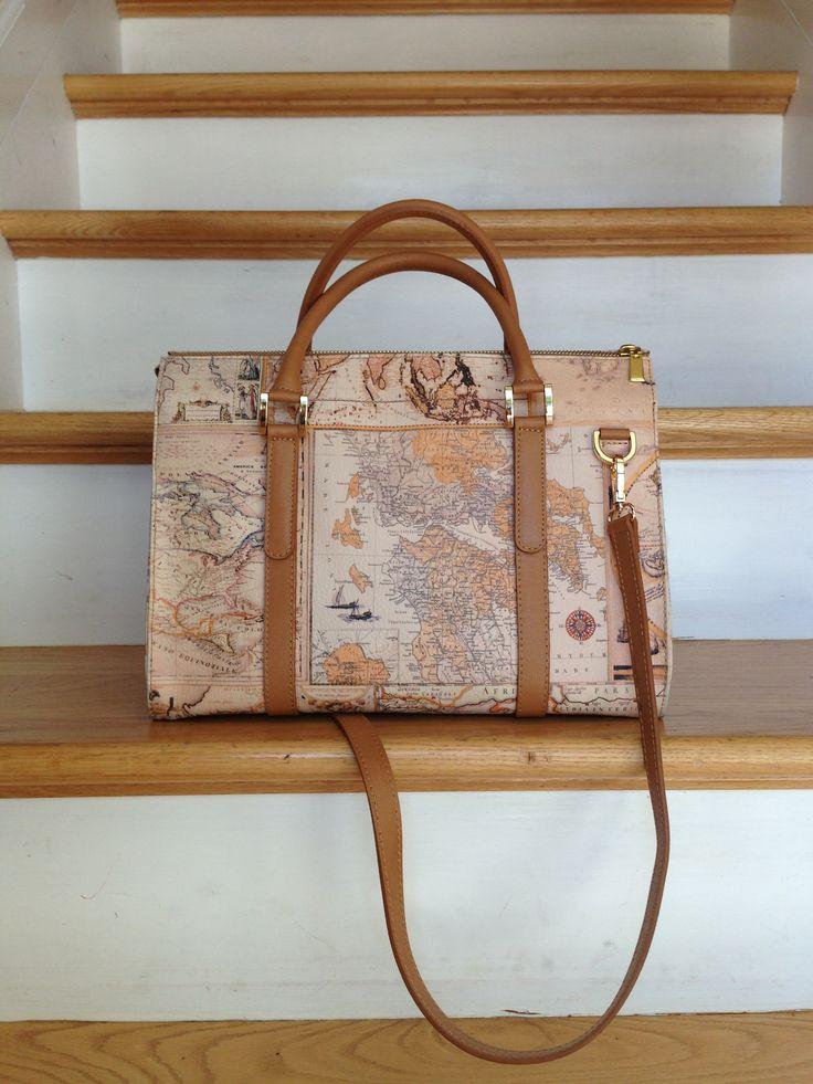 Italian leather bolsos mapa mapas online blog genuine italian leather purse map of the world design gumiabroncs Choice Image