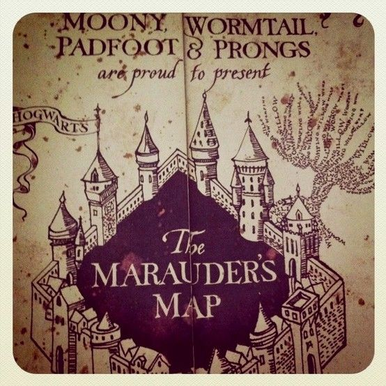 Marauder's Map! Mischief Managed. | Books | Pinterest
