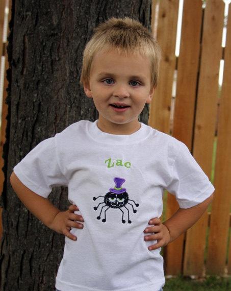 Personalized Spider Tshirt Halloween  Tshirt by MissNikkiDesigns, $21.99