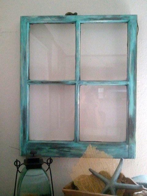 Vintage Shabby Chic Rustic Window Frame Wedding Turquoise