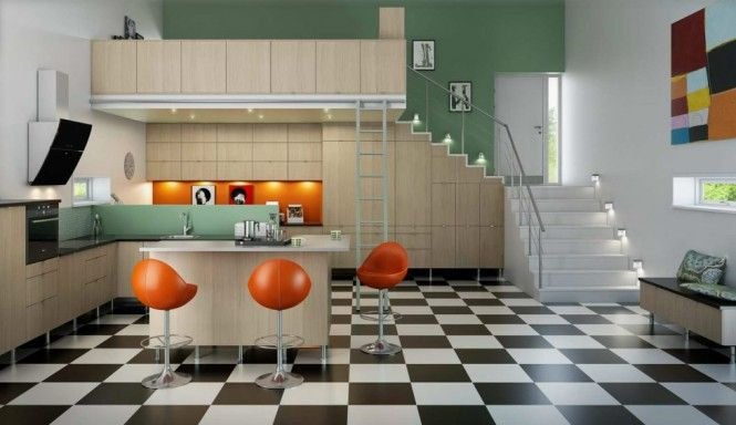 mid 60s mod Norwegian kitchen