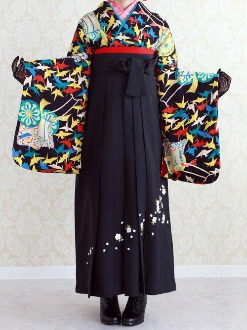 Yumedori Antique Kimono 夢鳥アンティーク着物 Antique kimono アンティーク着物 oritzuru 折鶴 (Cranes) - 2014 Siurce : beppin-hakama