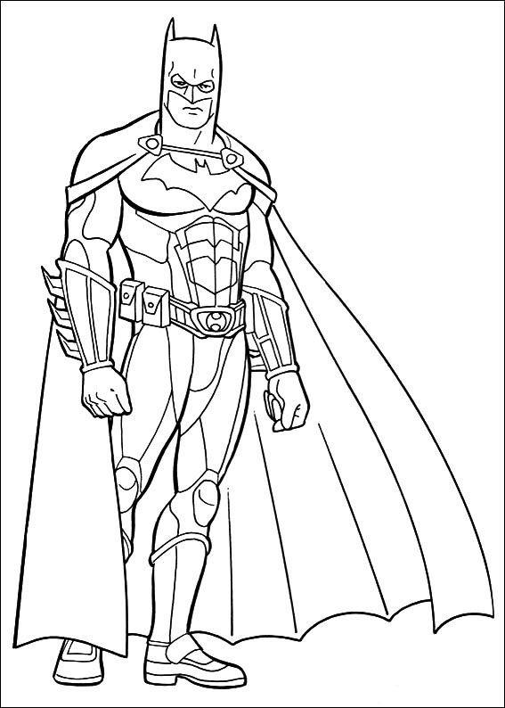 kleurplaten batman 40  superhelden malvorlagen