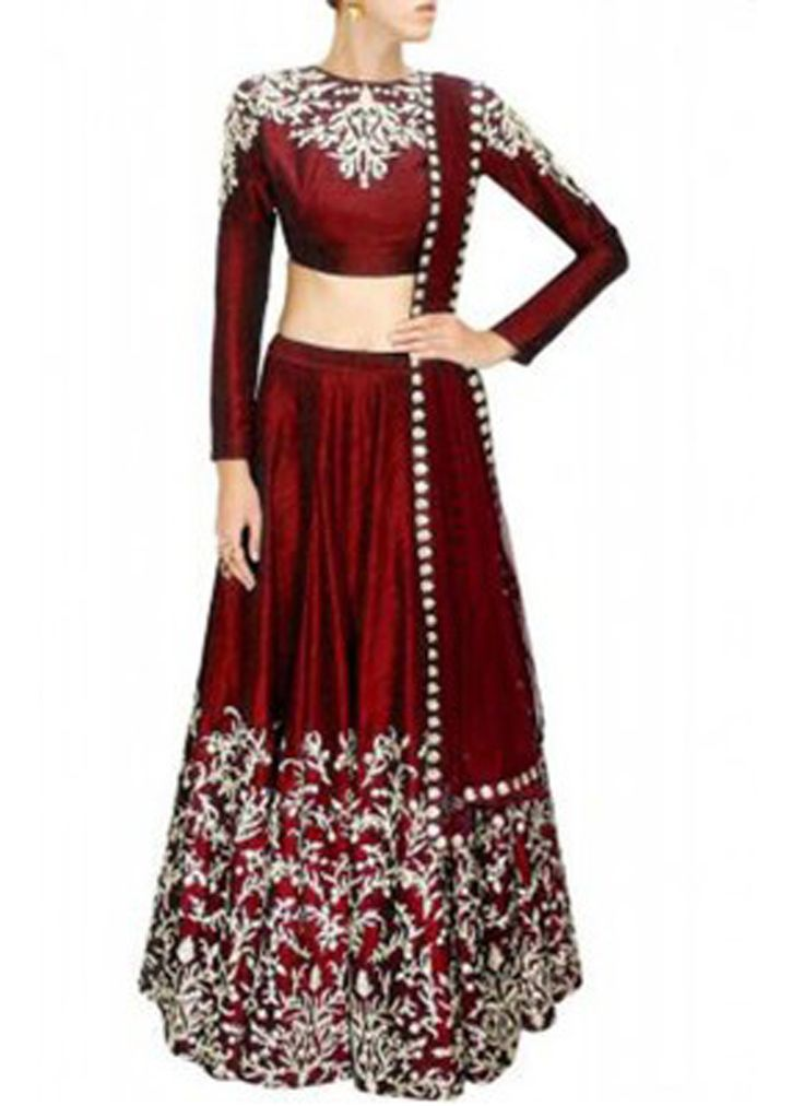 Buy Heavy Maroon Beautiful Designer Embroidered Lahenga Choli online, Latest Heavy Maroon Beautiful Designer Embroidered Lahenga Choli by Style Funia | latest Lehangas Shopping online at Craftsvilla
