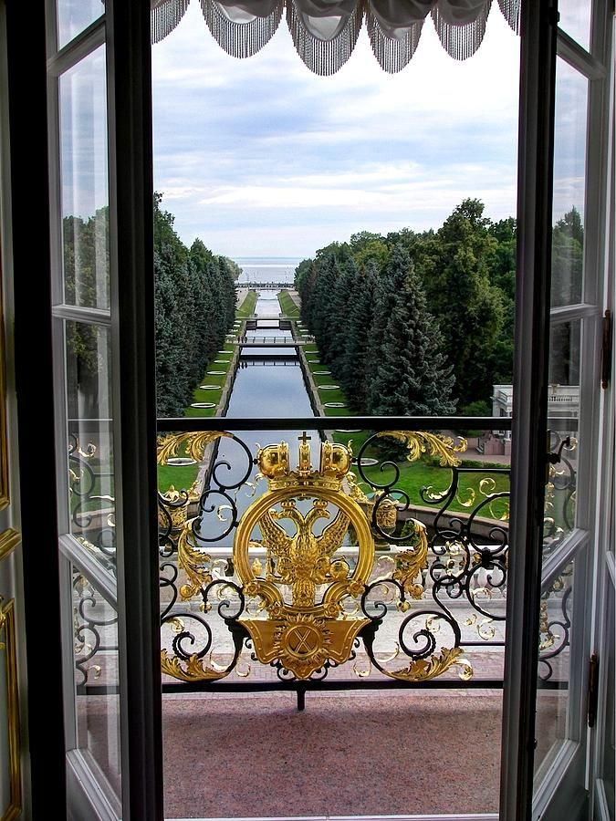 View from Peterhof Palace, St.Petersburg, Russia.