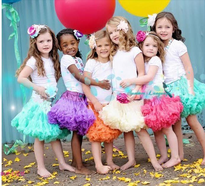 Doprava zdarma Děvčátka šifon Fluffy Pettiskirts Tutu Princess Party Sukně baletní tanec oblečení Dětské oblečení Kojenci spodnička-in sukně z matky a děti na Aliexpress.com | Alibaba Group